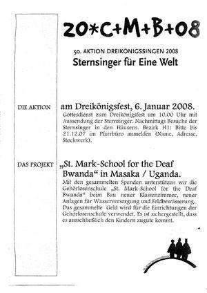 Plakat Sternsinger 2008