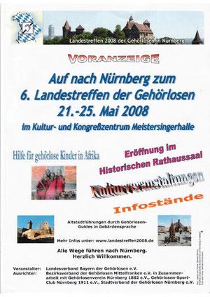 Plakat 6. Landestreffen der Gehörlosen in Nürnberg