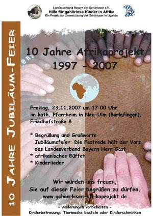 10 Jahre Afrikaprojekt Plakat