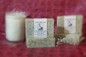 Almond Poppyseed Goat Milk Soap