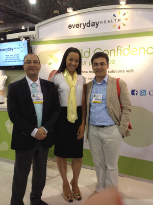 May 2012 representing Everyday Health at a tradeshow in Philadelphia