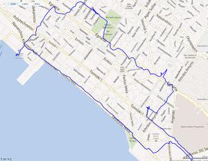 Thessaloniki, 7,5km GPS-Track