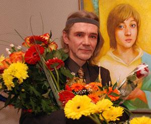 На открытии персональной выставки 12. 01. 2007.