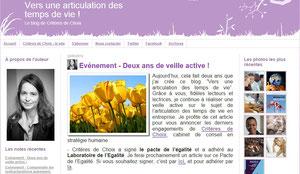 """Blog """"Vers une articulation des temps de vie"""""""