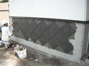 外壁タイル貼り