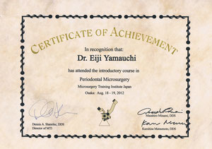 Certificate of Periodontal Microsurgery