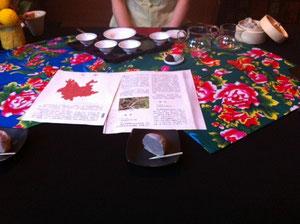 こちらでは香港帰りのMさんに黒茶と白茶を淹れていただきました