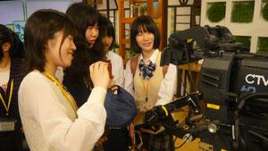 生徒たちの撮影体験