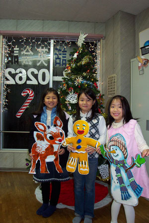 Niigata English LOFT School girls and Christmas Friends