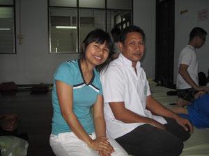 Mein Massage Lehrer Som Phram am Wat Pho