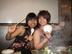 Miki aus Japan und ich  - Massageschule am Wat Pho