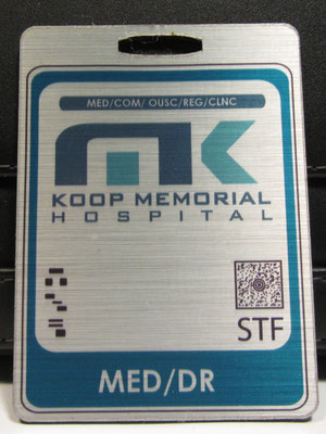 Koop Memorial Hospital Medical Doctor Badge