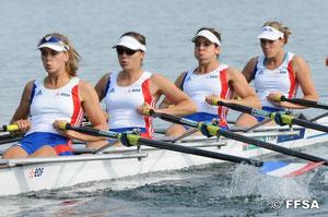 le 4 de couple femme, en route vers la 2ème place de la finale B...