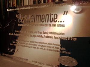 Develación de placa por 51 funciones. Foro La Casa del Cine, junto con Petit Comité. Mayo 2013.