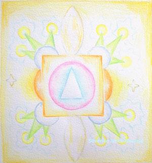 clé, severine saint-maurice, lescerclesdelumiere.com, crayon de couleur, mandala, art, dessin