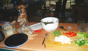 Warten aufs Essen