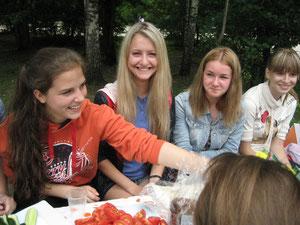 Саша Гниломедова, Полина Рякова, Таня Иванова, Настя Маслова