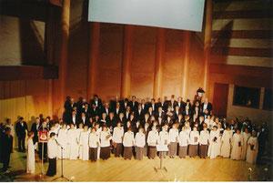 ENCUENTRO EN MERIDA , CORAL AUGUSTA EMERITA, CORO MATICES DE VALLADOLID Y CAMERATA ABULENSE, 2004 DIRECTOR JESUS FIDALGO.