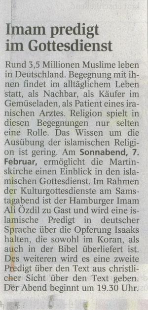Kulturgottesdienst Zeitung