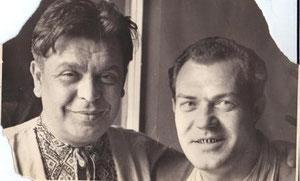 Н.А. Барсуков и В.П.Ларцев, 1955 год