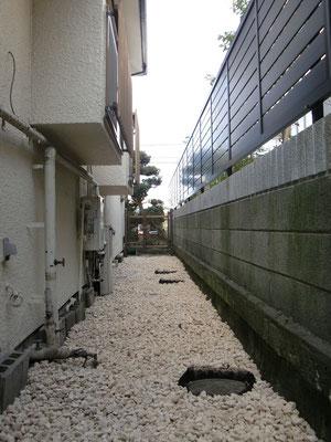 戸建住宅北側施工後