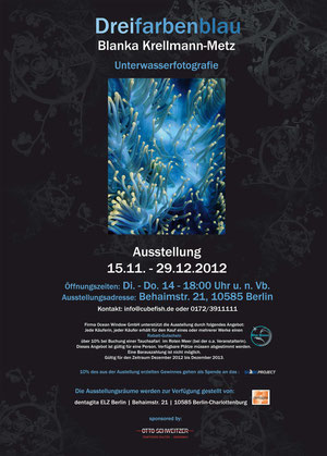 Plakat Dreifarbenblau