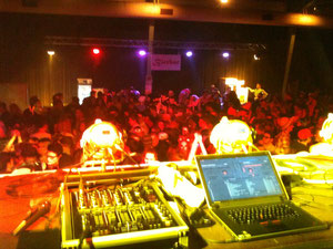 Ausblick von der DJ-Bühne