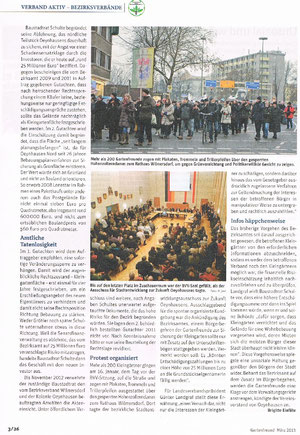 Gartenfreund März 2013, Verlag W. Wächter GmbH, Artikel von Brigitte Einführ