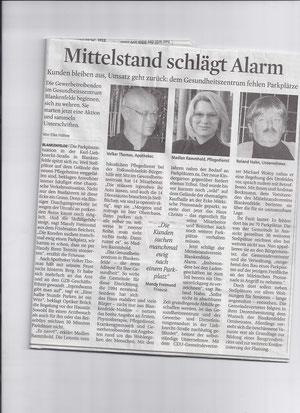 MAZ/Zossener Rundschau vom 26.01.2012