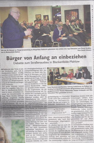 Wochenspiegel 14.03.2012