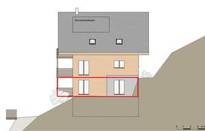 Haus B / Ansicht Süd-Ost