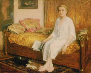 """""""La,femme de Pierre Chartier"""" - 1955 - huile (99x81)"""