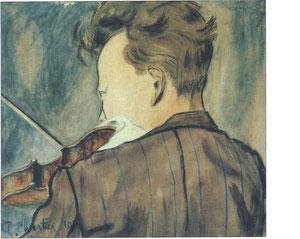 """Jean Chartier"" - 1919 - gouache (39x46,5)"