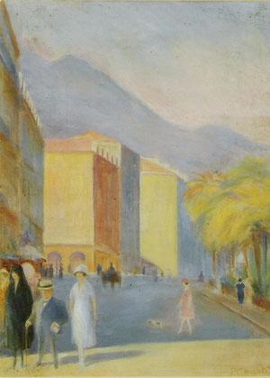 """Boldini à Nice"" - 1917 - aquarelle (31x45)"