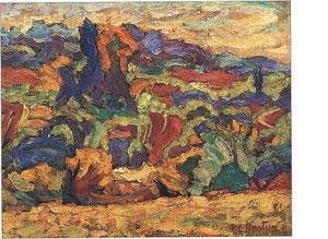 """Paysage"" -1920 - huile (37x47)"