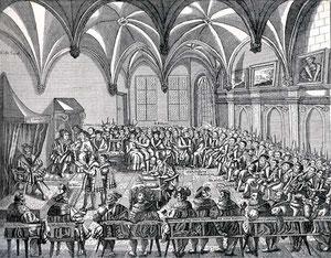 Verlesung des Augsburger Glaubensbekenntnisses