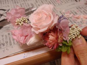 花冠ガーランド作り方手順
