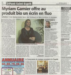 Parution Presse Midi Libre Grand Avignon
