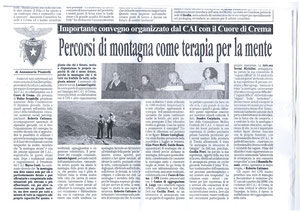 """articolo dal settimanale """"Prima Pagina"""" della città di Crema (Cr) scaricare l'artico qui sotto"""