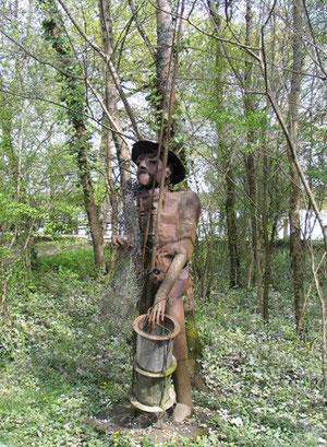 Sculpture de Michel Lecoeur (F. Bergougnoux)  Rives d'Arcins à Bègles