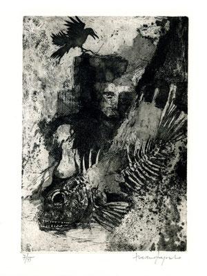 incisione originale di Luciano Ragozzino (misura lastra 225x155 mm)