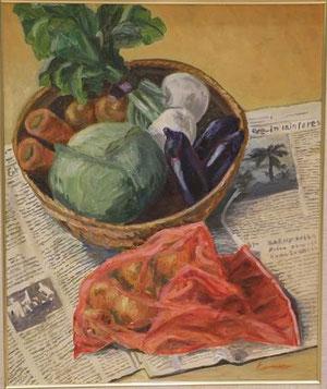 野菜 20号油彩