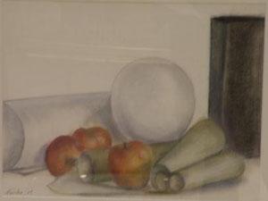 球体とリンゴ 6号パステル