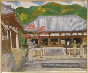 国宝当麻寺 20号油彩