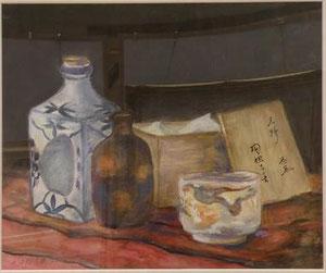 陶器たち 8号油彩