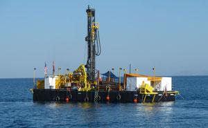 Abb. 1. Die neue DLDS-Plattform beim ersten Einsatz auf den Van-See. Foto: G. Heumann
