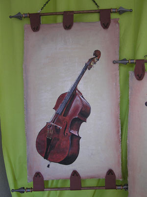 Schriftrolle Cello