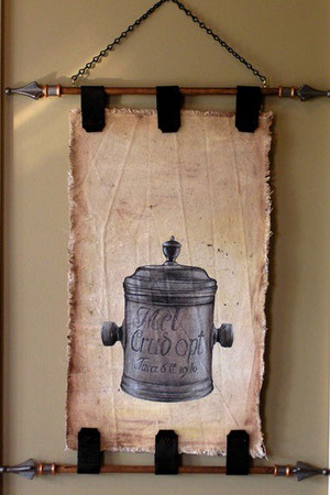 antikes Apothekengefäß, noch ohne Text