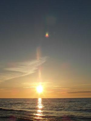 Każda uroczystość w takiej scenerii zapada głęboko w pamieć. Zachód słońca- Ustka.