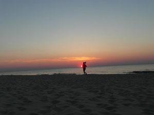 Relaks nad morzem w Ustce.
